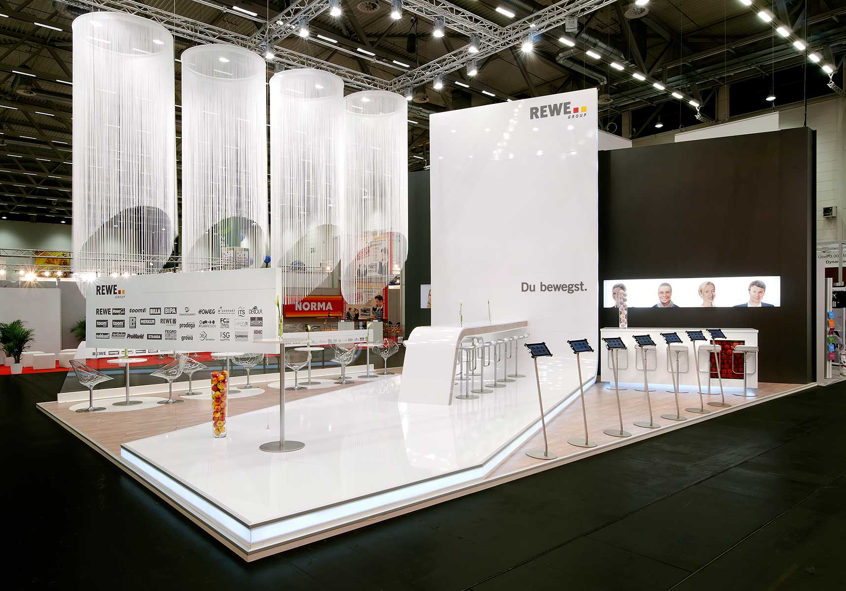 Exhibition Stand Design Northamptonshire : Rewe group blickfang messebau gmbh