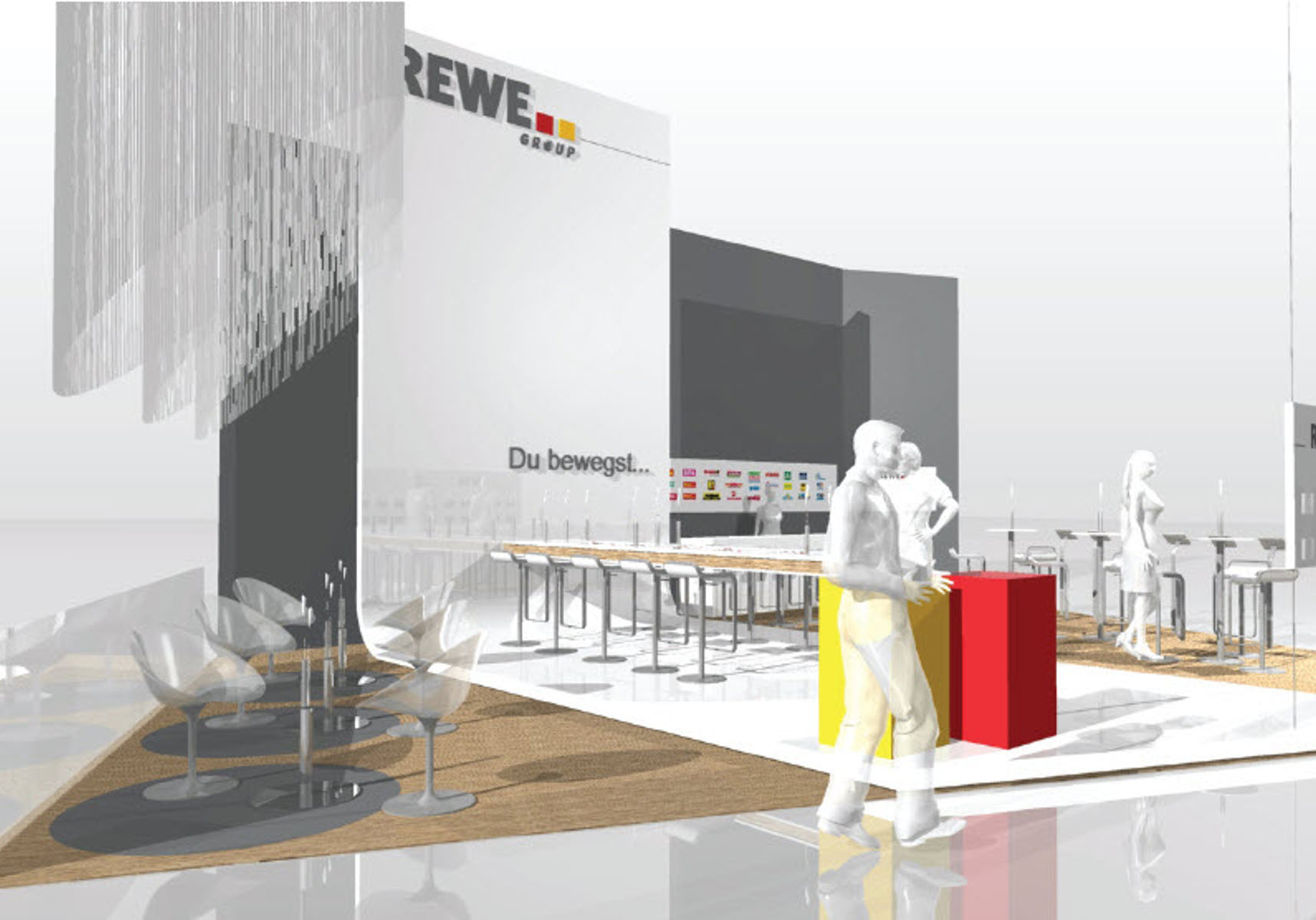 REWE Messestand - Absolventen Messe Visualisierung 2