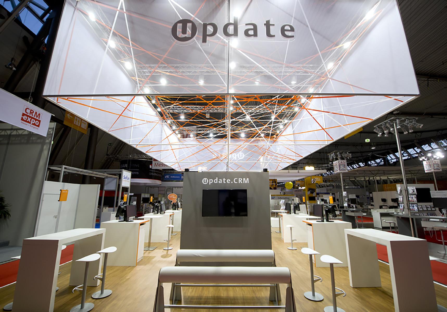 Update CRM Expo Stuttgart Messestand von Blickfang Messebau 3 - Detailaufnahme