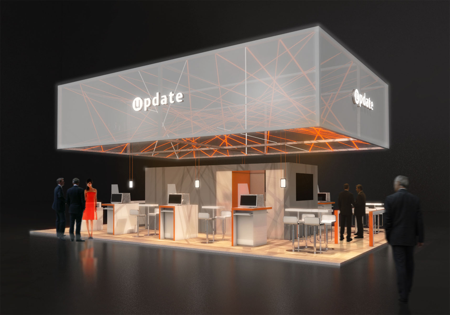 Update Cebit Messeentwurf Design