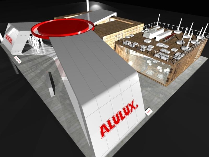 Messedesign - visuelle Gestaltung eines Messestandes - 3D Vorlage