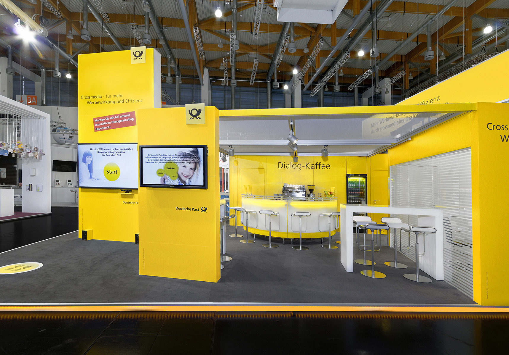 Messestand von Deutsche Post