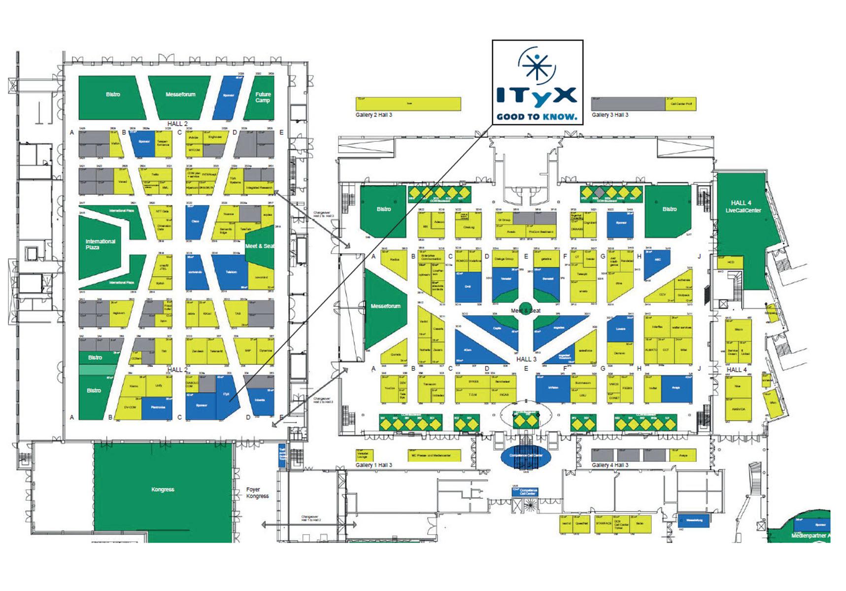 ITyX Messe CCW Lageplan