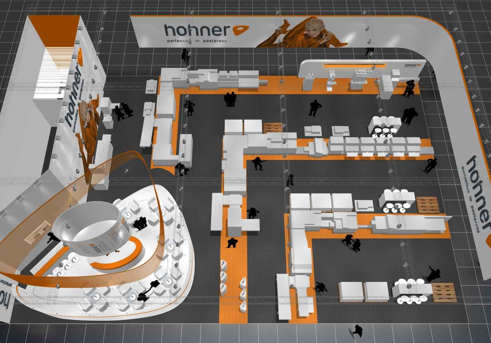 Hohner Messestand Drupa Düsseldorf Visualisierung 2