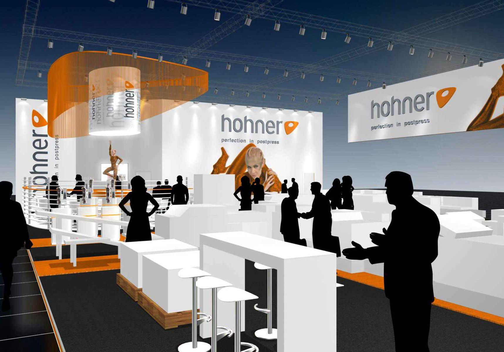 Hohner Messestand Drupa Düsseldorf Visualisierung 3