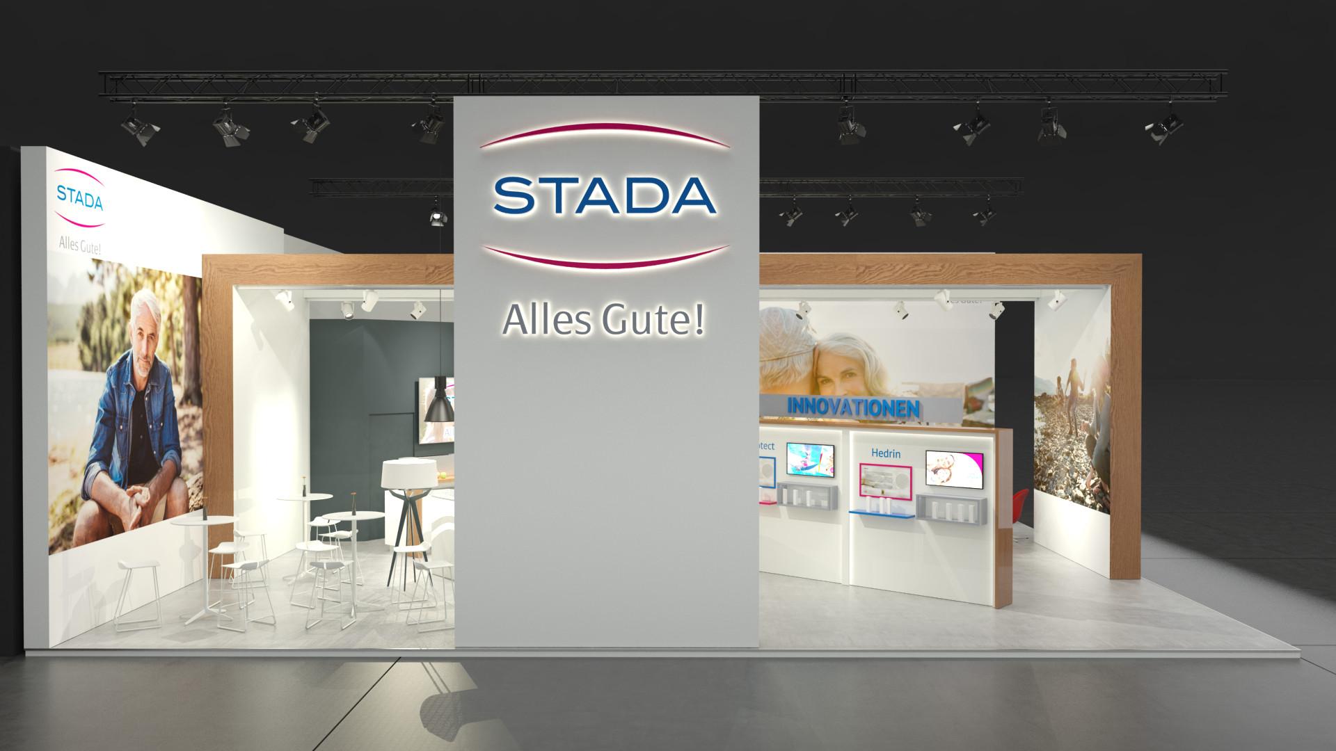 Stada Exopharm Messestand Entwurf