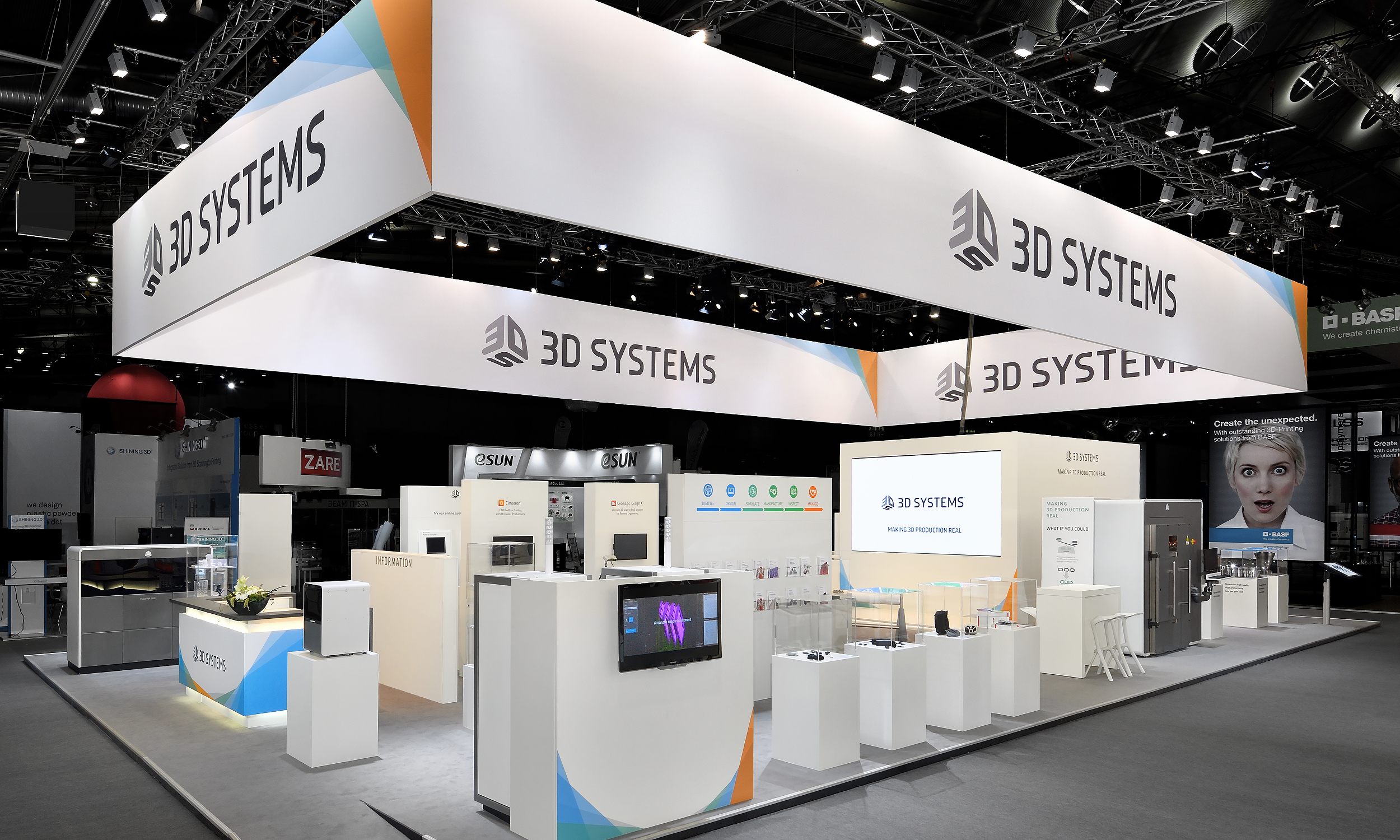 3D Systems Formnext Messestand Titel