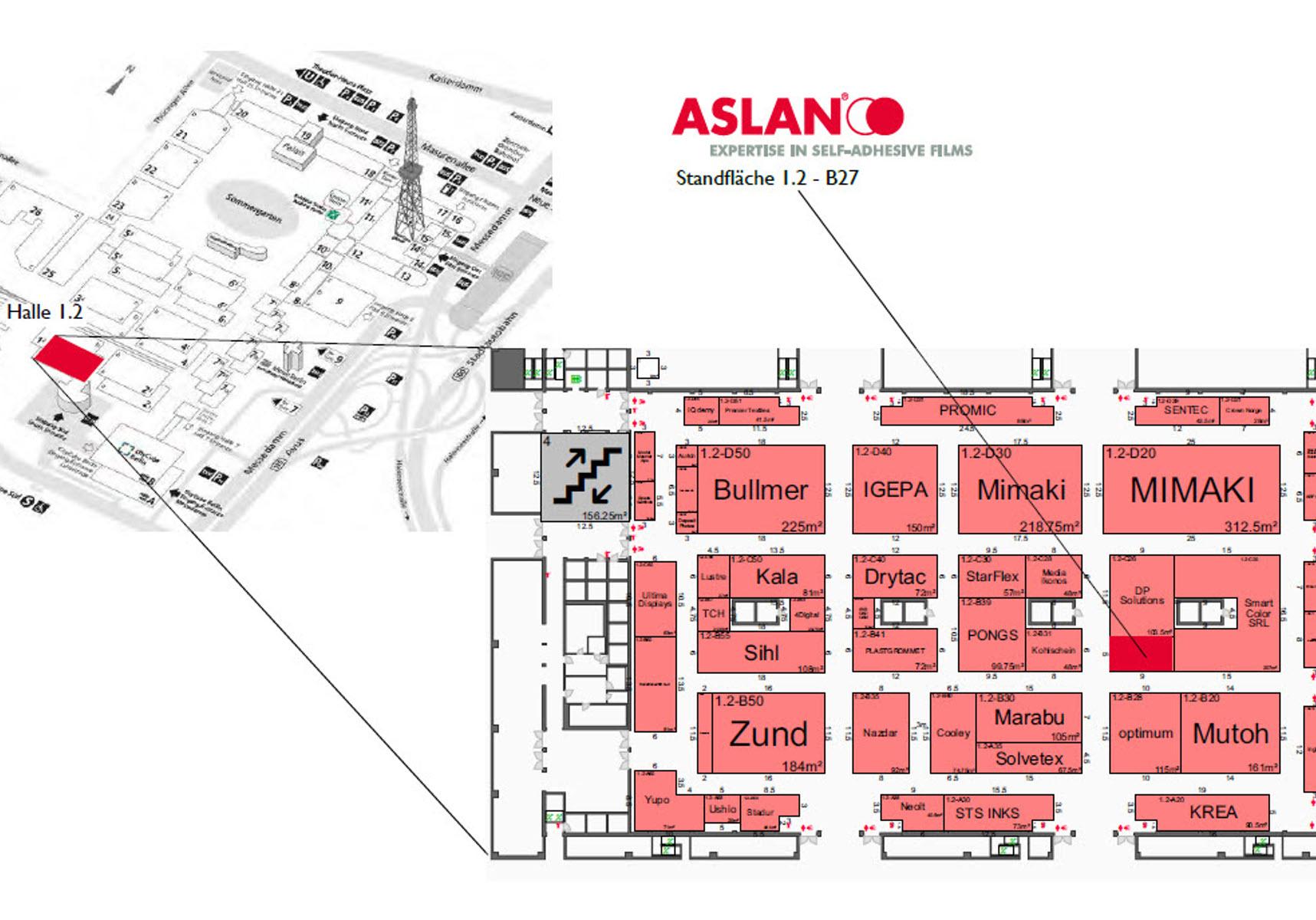 Aslan Schwarz FESPA Lageplan
